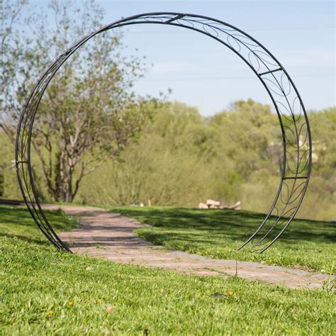 Garden Arch Circle Belham Living Metal Tunnel Garden Arbor Arbors At Hayneedle