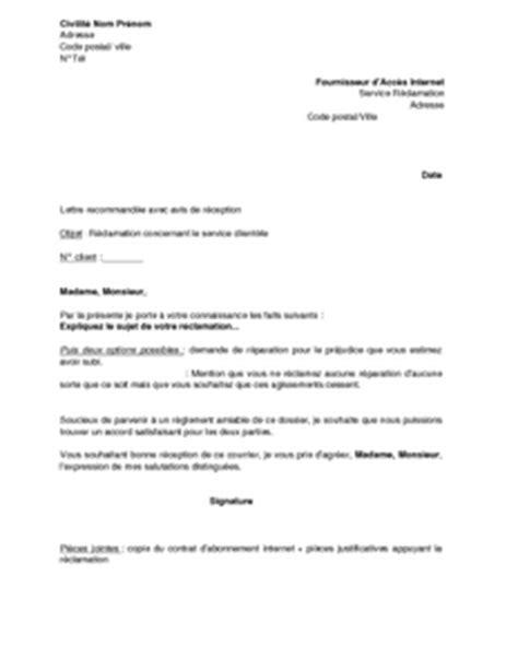 Lettre De Réclamation Mobile Orange Lettre De R 233 Clamation Concernant Le Service Client 232 Le Mod 232 Le De Lettre Gratuit Exemple De