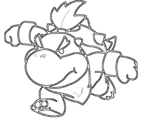 coloring page bowser bowser jr coloring pages coloring home