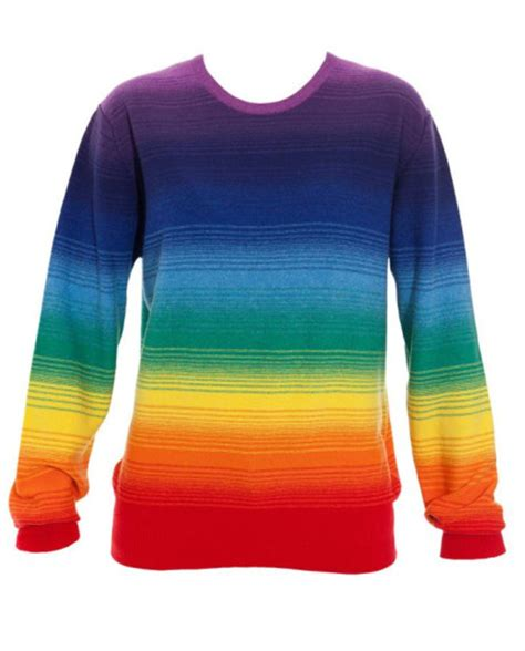 rainbow jumper outfitters rainbow striped sweater womens size s