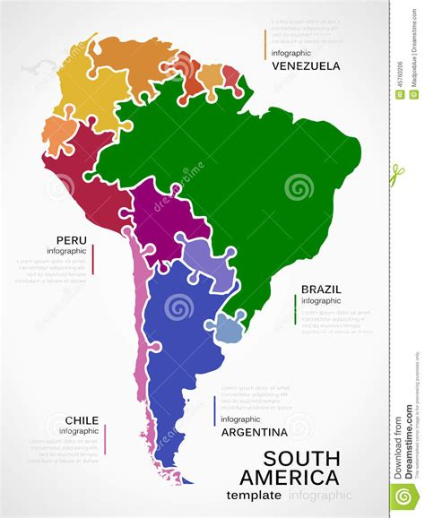 venezuelan id template map of south america stock vector image 45760206