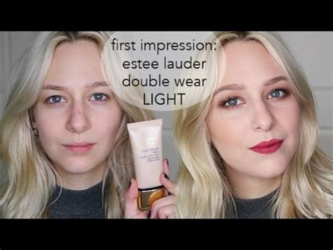estee lauder double wear light est 201 e lauder double wear light first impressions youtube