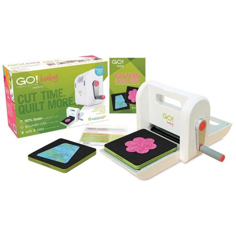 Fabric Cutting Machines For Quilting by Accuquilt Go Baby Fabric Cutter Starter Set 699195553004