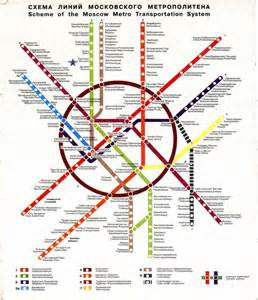 Moscow Subway Map by Scans From Collections
