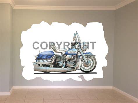 harley davidson wall murals koolart harley davidson electra glide wall sticker poster mural 112 ebay
