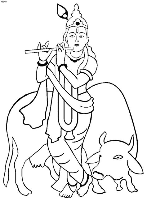 lord krishna coloring book lord krishna coloring pages