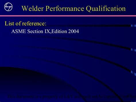 asme section ix training asme sec ix bkr 051010