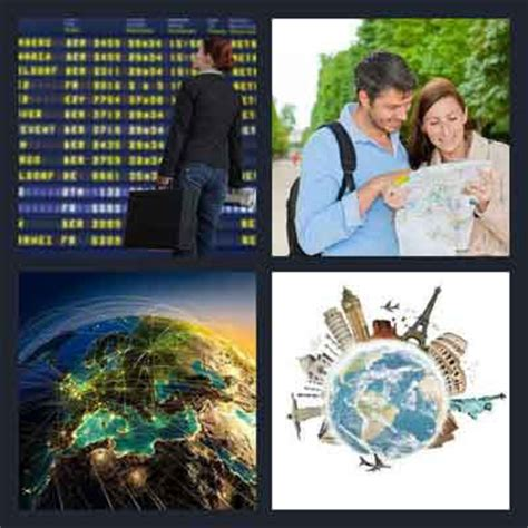 4 In 1 Travel 4 pics 1 word answer travel 4 pics 1 word answers