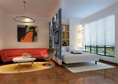chinese bedroom interior partition wall and study room