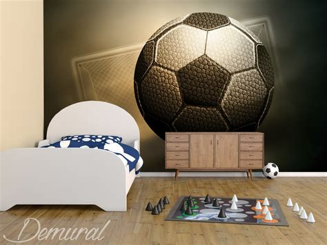 Football Murals For Bedrooms by A Football Trophy Boy S Room Wallpaper Mural Photo