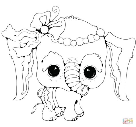 girl elephant coloring pages baby elephant girl coloring page free printable coloring