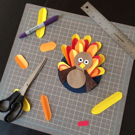 What Can We Make With Paper - turkey craft activities for thanksgiving method to my