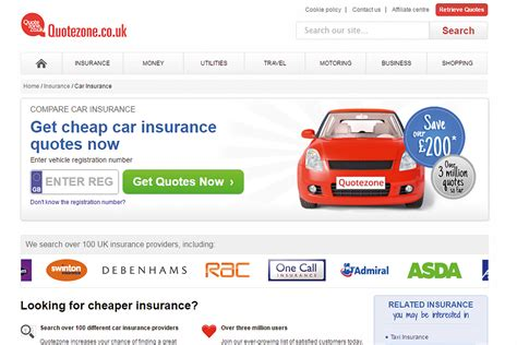 quotezone compare car insurance  comparison sites