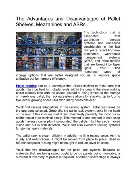 warehouse layout advantages and disadvantages the advantages and disadvantages of pallet shelves