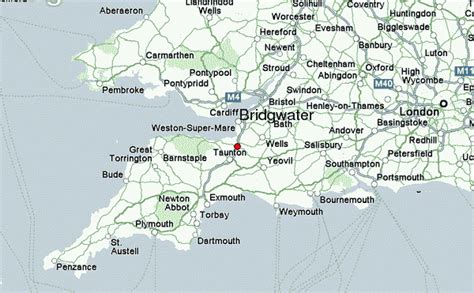 map uk somerset bridgwater location guide
