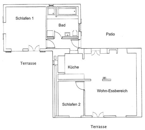2 schlafzimmer grundriss finca la paz ferienhaus la palma puntagorda