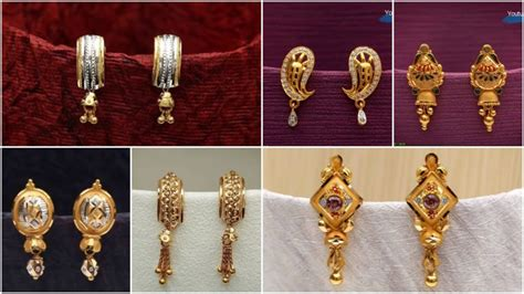 latest daily wear gold earrings design simple craft ideas
