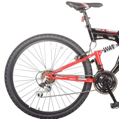 mens mtb muddyfox mens recoil26 mountain bike dual suspension