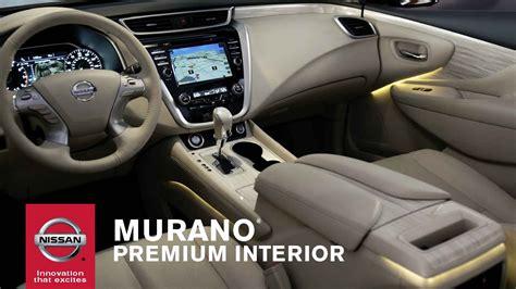 nissan murano interior 2015 nissan murano premium interior youtube