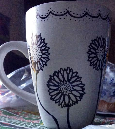 design a mug with sharpie sharpie mug design with flowers mugs pinterest