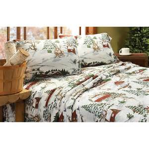 Flannel Bedding Set by Winter Lodge Flannel Sheet Set 209126 Sheets At