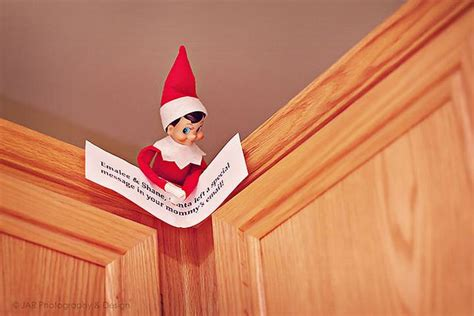 Email From On Shelf on the shelf has note about email from santa handy