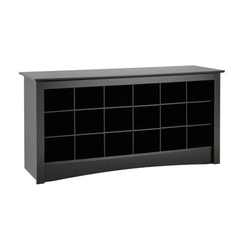 shoe storage cubbies 18 cubby shoe storage bench in black bss 4824
