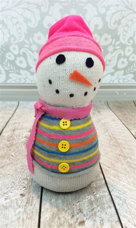 sock crafts for adorable snowman sock craft favecrafts