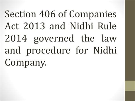 section 3 of companies act ppt on nidhi company cs waseem anwar