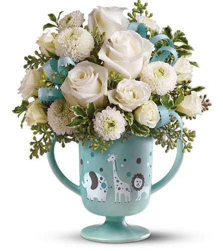 Vl St Blue Boy migi s baby circus bouquet by teleflora blue 09n210b 35 00