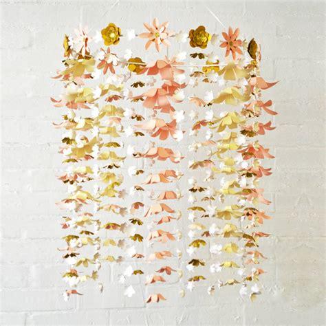 Handmade Metallic Paper Flower Chandelier By May Contain Paper Flower Chandelier