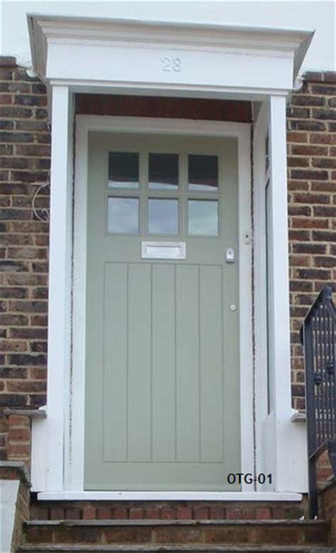 half glazed framed ledged doors bespoke doors