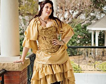 Wst 19075 Gold Shimmer Sleeve Blouse inspired steunk corset costume princess