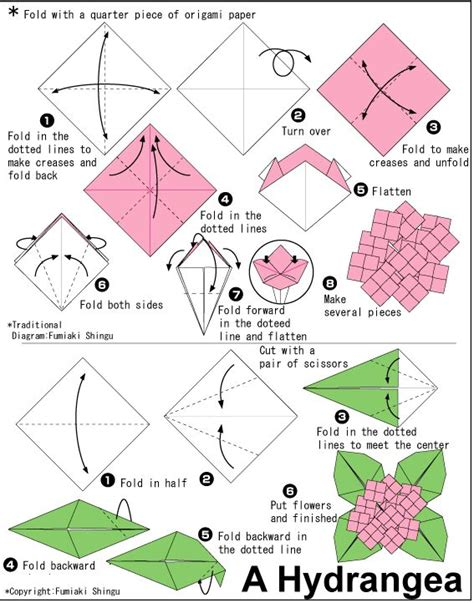 Origami Flower Diagrams - 230 best images about origami on origami paper