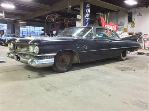 black 59 cadillac 1959 cadillac coupe 2 door hardtop black a c 59