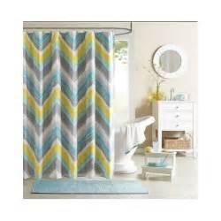 Teal And Gray Curtains Decorating Chevron Shower Curtain Teal Blue Grey Bathroom Accessory Bath Zigzag Curtains Ebay