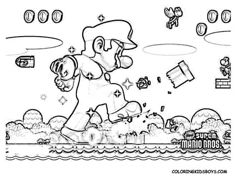 mario characters coloring pages getcoloringpages
