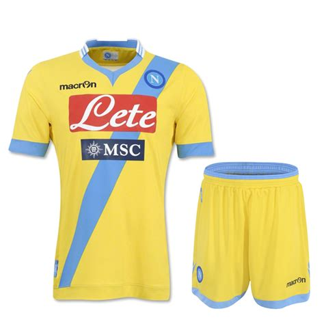 Napoli 13 14 Away 13 14 napoli away yellow jersey kit shirt am 01137
