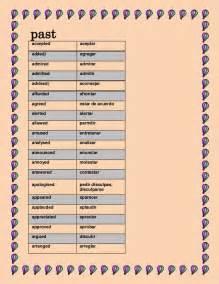 lista de verbos en pasado