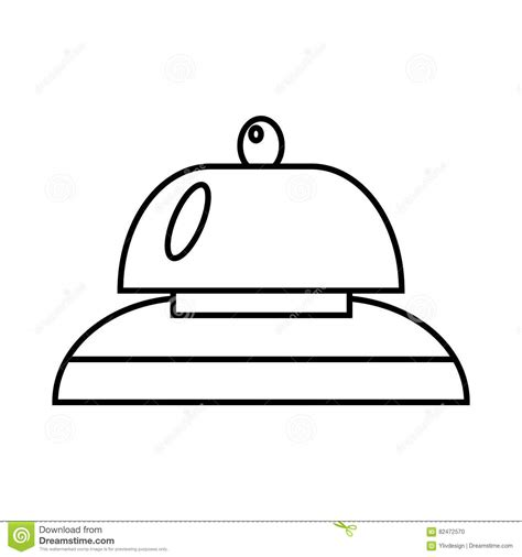call at the reception alarm clock bed shower hotel set collection icons in monochrome style