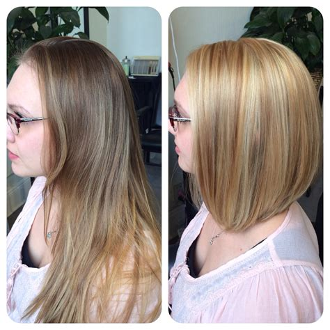 partial highlights at 50 years old before after partial highlight with blonde all over color