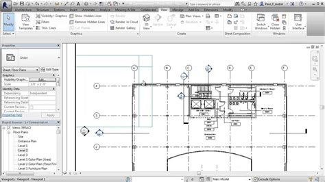 floor plan grid revit guide grids youtube