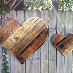 Rustic Wood Home Decor Rustic Wood Hearts Pallets Home Decor Pin