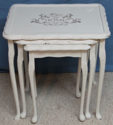 shabby chic nest of tables antiques atlas