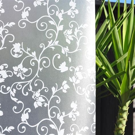 Harga Murah Decorative Black Flower 5m 14 best images about frosted glass window on window treatments lace and window glass