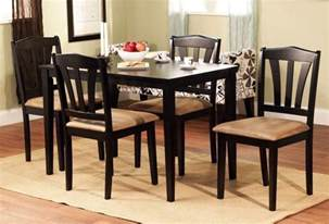 Furniture Kitchen Table 5 Piece Dining Set Wood Breakfast Furniture 4 Chairs And
