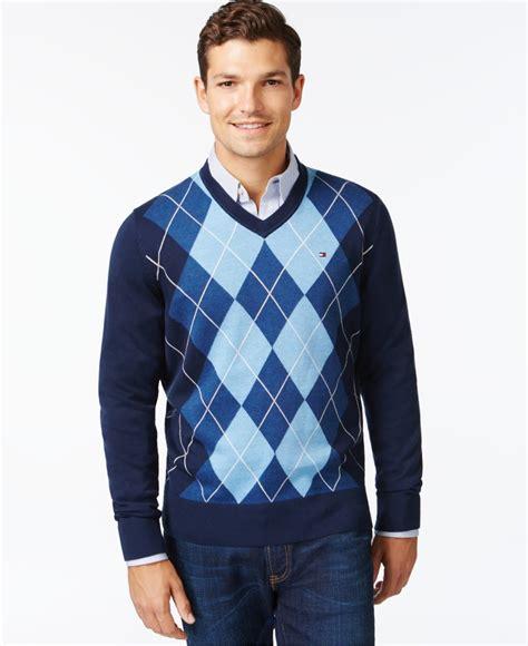 Sweater Temmy Navy navy blue v neck sweater sweater