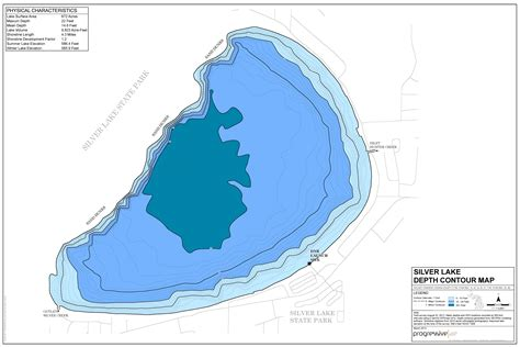depth map evaluation reports maps friends of silver lake a community caring for our lake