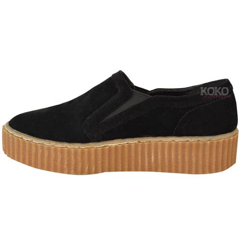 Platform Wedge Flats womens flat platform wedge slip on