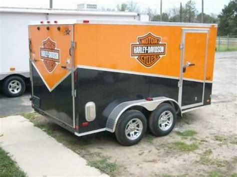 Harley Davidson Trailer Decals by 7x12 Enclosed Motorcycle Trailer Slant Sport Package W